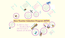 New Teacher Induction Program Overview