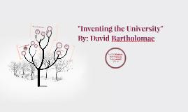 david bartholomae inventing the university