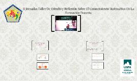Copy of II Jornadas Taller De Estudio y Reflexión Sobre El Conocimie