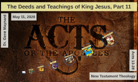 Acts 13-28 NT Theology