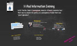 1:1 iPad Information Evening