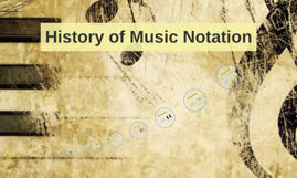History of Music Notation