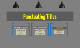 Copy of Punctuating Titles