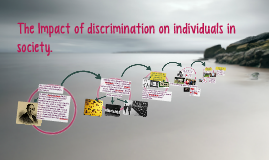The Impact of discrimination on individuals in society.