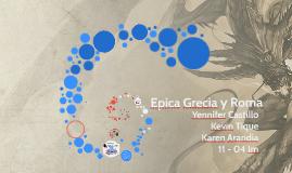 Epica Grecia y Roma