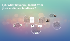 Q3. What have you learn't from gaining audience feedback?