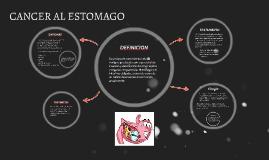 CANCER AL ESTOMAGO