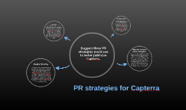Suggest three PR strategies you'd use to better publicize Ca