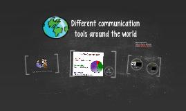 Different communication tools around the world