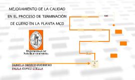 MEJORAMIENTO DE LA CALIDAD EN EL PROCESO DE TERMINACIÓN DE C