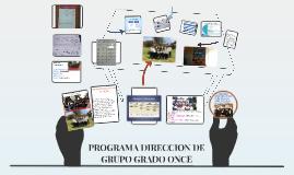 Copy of PROGRAMA DIRECCION DE GRUPO GRADO 11