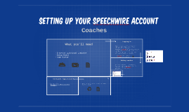 Setting up your speechwire account