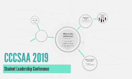 CCCSAA 2019 Conference Application