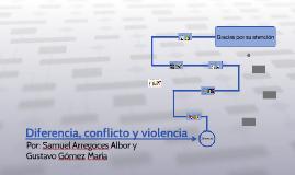 Copy of Diferencia, conflicto y violencia