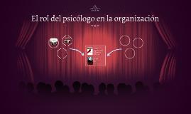 El rol del psicólogo