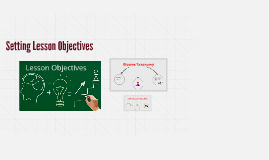 Setting lesson objectives