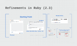 Refinements in Ruby (2.3)