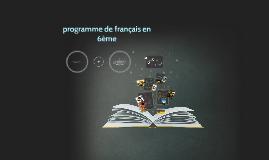 programme de français en 6ème