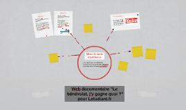 """Web documentaire """"Le bénévolat, j'y gagne quoi ?"""" pour Letud"""