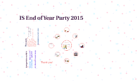 IS End of Year Party 2015