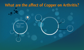 What are the affect of Copper on Arthritis?