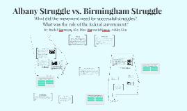 Albany struggle vs. Birmingham struggle