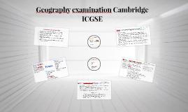 Geography examination Cambridge ICGSE