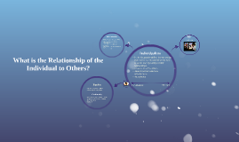 What is the Relationship of the Individual to Others?