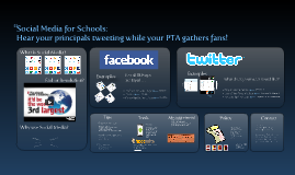 ACSA - Social Media for Schools: Teach a principal to Tweet while the PTA recruits new fans