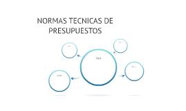 NORMAS TECNICAS DE PRESUPUESTOS