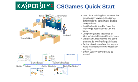 CyberSafety Games training overview