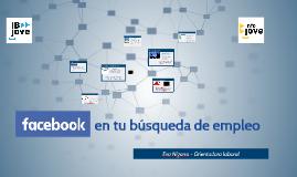 Facebook en tu búsqueda de empleo