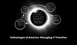 Copy of Volkswagen of America: Managing IT Priorities