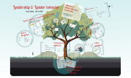 Copy of Copy of leader behavior and leadership effectiveness