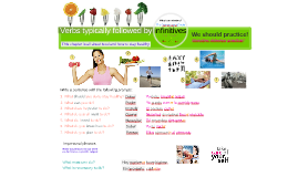 Verbs typically followed by infinitives