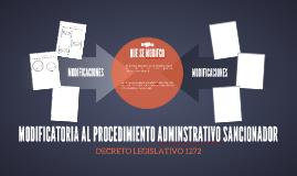 MODIFICATORIA AL PROCEDIMIENTO ADMINSTRATIVO SANCIONADOR