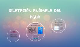 DILATACIÓN ANÓMALA DEL AGUA