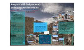 Responsabilidad y manejo de bienes patrimoniales -- 2016.