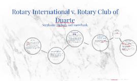 Rotary International v. Rotary Club of Duarte