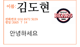 이름:김도현