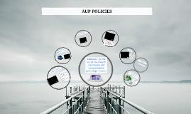 Copy of AUP Policies