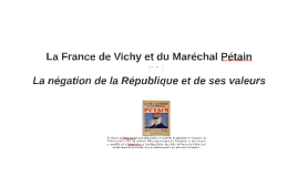 La France de Vichy et du Maréchal Pétain copie