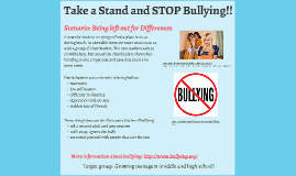 Taking a Stand and STOP Bullying!!