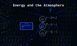Energy and the Atmosphere