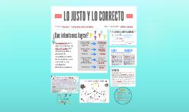 LO JUSTO Y LO CORRECTO