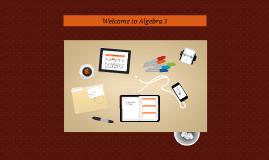 Welcome to Algebra 1 Honors