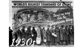 1930s: A New Deal