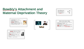 Bowlby's Attachment and Maternal Deprivation Theory