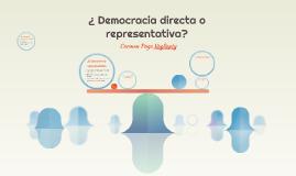 ¿ Democracia directa o representativa?