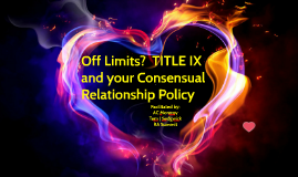 RA dating policies and Title IX